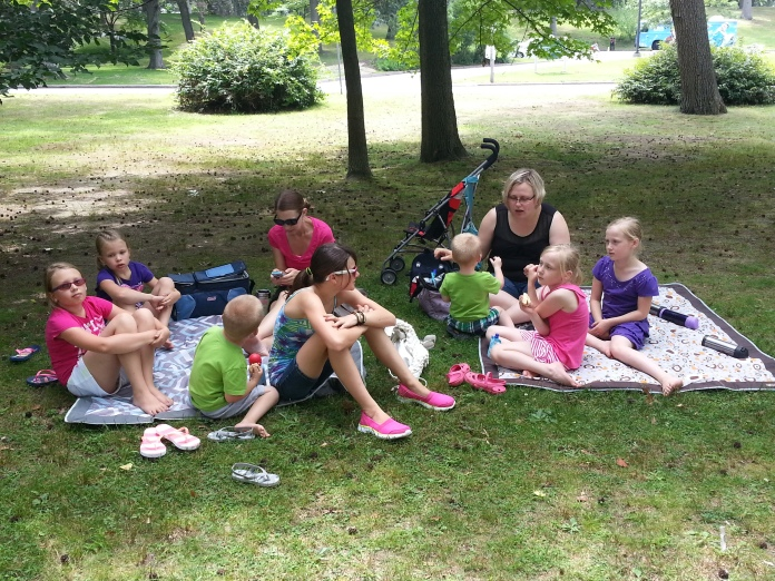 Picnic Lunch in Roger Williams Park, Rhode Island