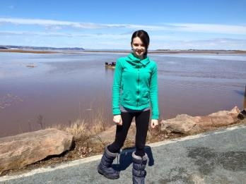 Alex on the Wolfville waterfront