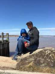Noah and I on the Wolfville waterfront