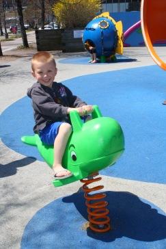 Noah riding the whale