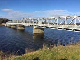 Bridge across Saint John river in Perth-Andover New Brunswick