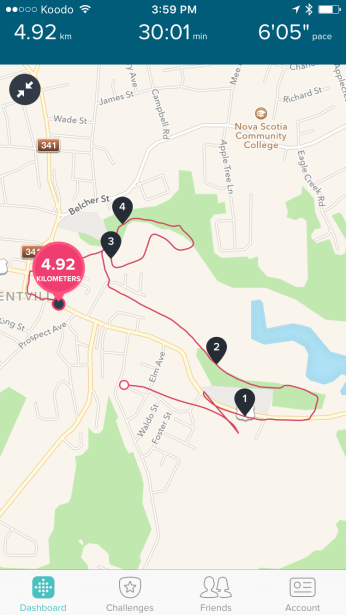 Fitbit should have started pretty much the exact same spot as the end.