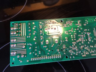 Solder joints not too bad, but burned some taking off the old