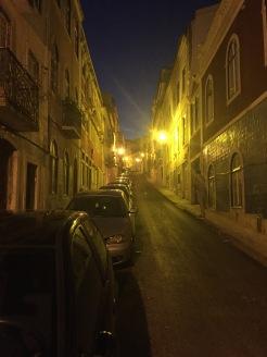 Steep winding streets