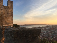 Sunset from a castle