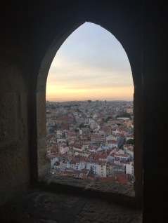 View of Lisbon from a castle window