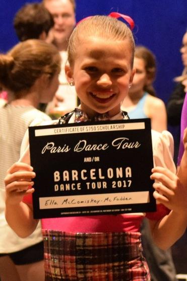 Ella Dance Tour Scholorship
