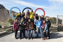 Our awesome group at the Olympic rings