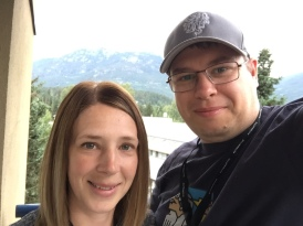 Jen and I on our hotel balcony